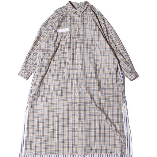 F/CE.®/CHECK SHIRT SUPER LONG/ エフシーイー チェックシャツロングワンピース