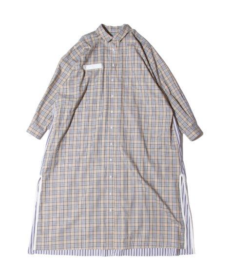 F/CE.® CHECK SHIRT SUPER LONG/ エフシーイー チェックシャツロングワンピース