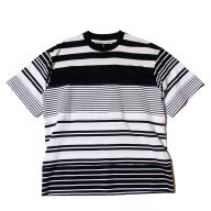White Mountaineering CONTRASTED STRIPE T-SHIRT  / ホワイトマウンテニアリング