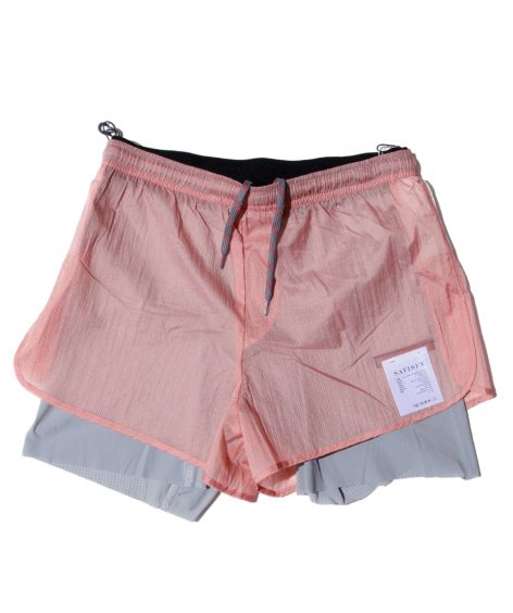 SATISFY 3219 TRAIL L-D 3 SHORTS CORAL PINK / サティスファイ