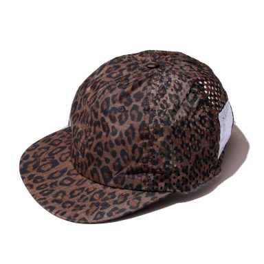 SATISFY 3055 PERFORATED RUNNING CAP LEOPARD / サティスファイ