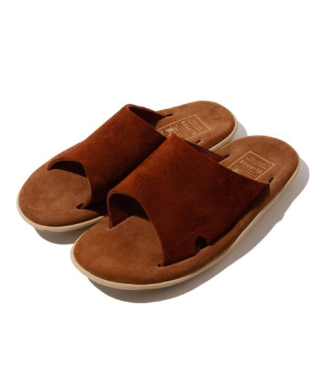 ISLAND SLIPPER / REVERSE BULL HIDE SLIDE