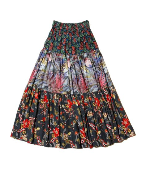 White Mountaineering FLOWER PRINTED TIERED SKIRT/ ホワイトマウンテニアリング