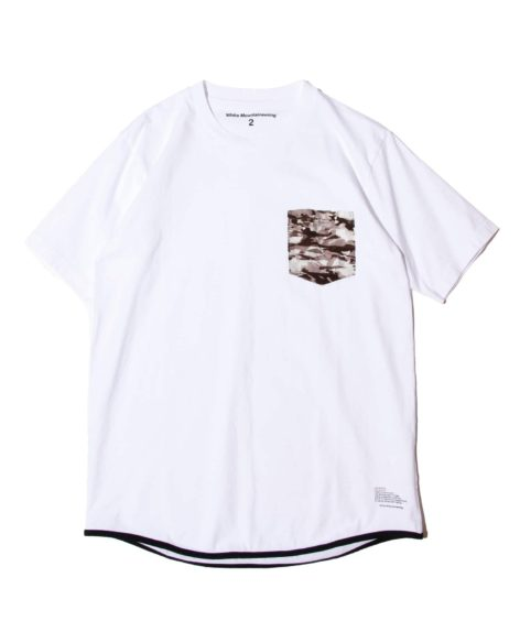White Mountaineering LAYERED CAMO PRINTED POKET T-SHIRT / ホワイトマウンテニアリング