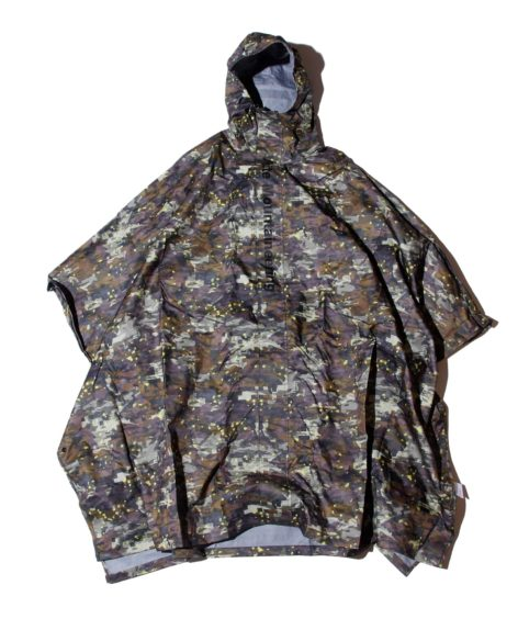 White Mountaineering LAYERED CAMO PRINTED RAIN PONCHO WM / ホワイトマウンテニアリング