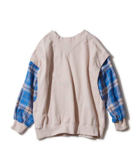 F/CE.® LAYERING CHECK PO/ エフシーイー レイヤリング チェックスウェットシャツ