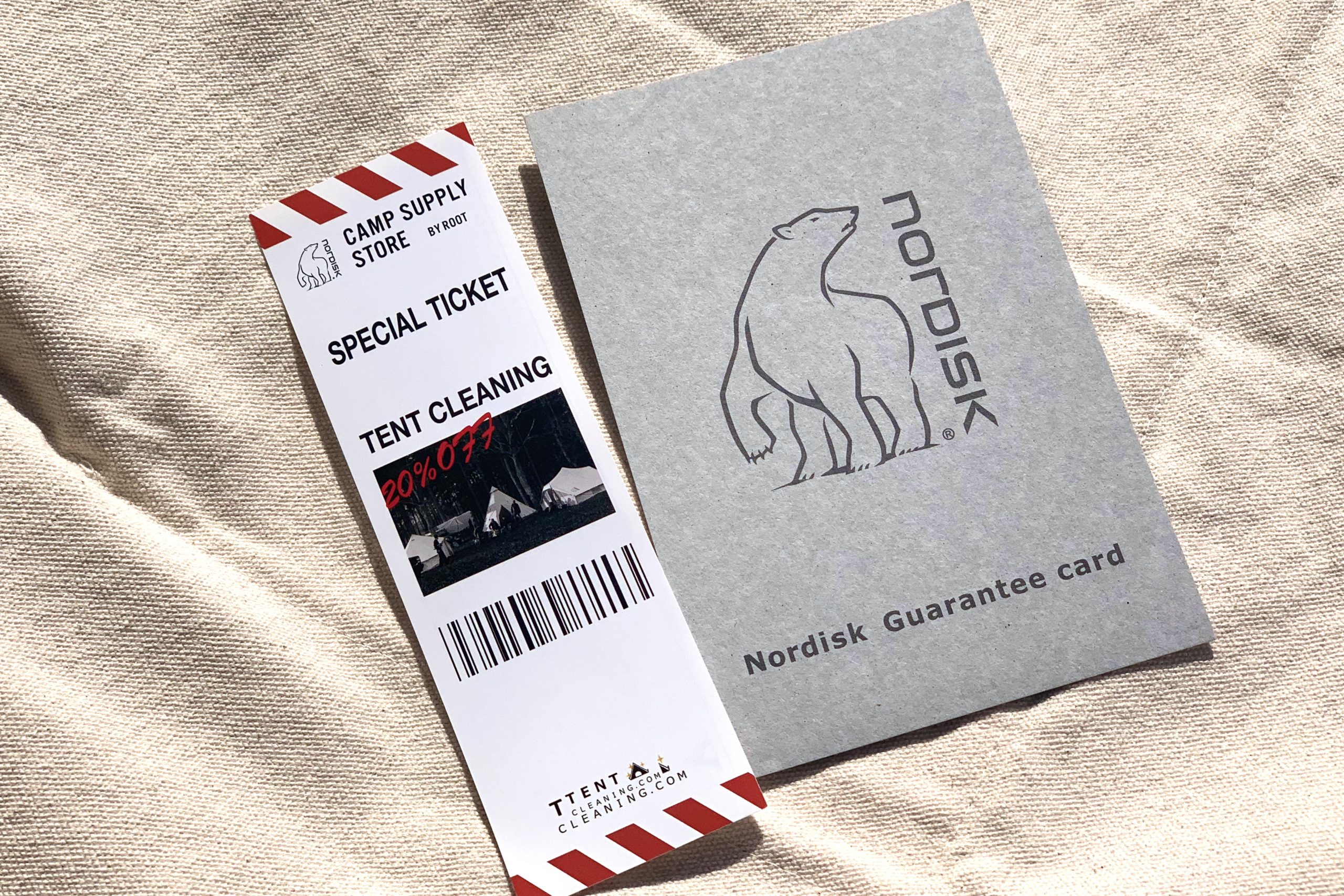 NORDISK-TENT CLEANING -20%OFF TENT CREANING SPECIAL TICKET!