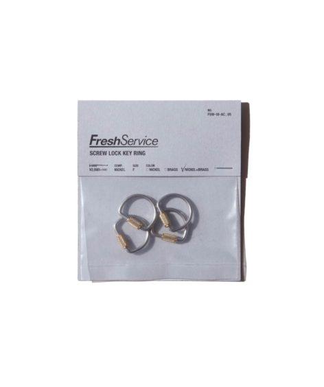 Fresh service Screw Lock Key Ring / フレッシュサービス キーリング