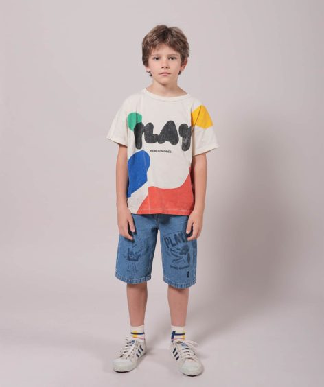Bobo Choses Play Landscape Short Sleeve T-Shirt  / ボボショーズ