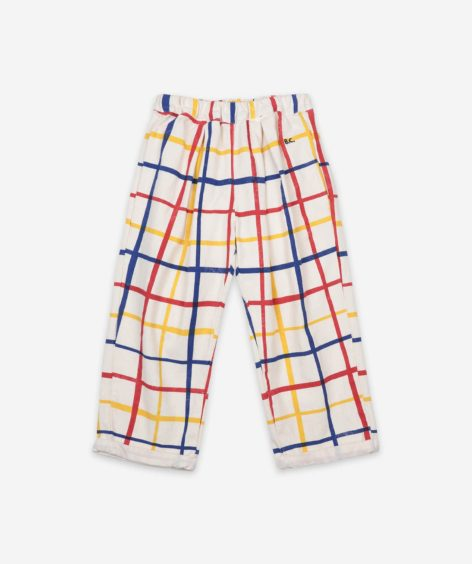Bobo Choses Multicolor Checkered Baggy Trousers  / ボボショーズ