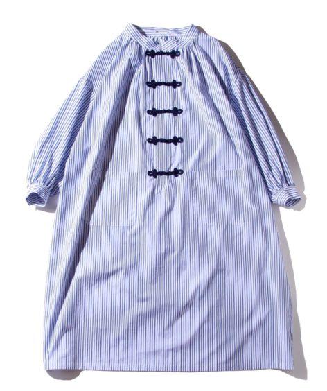 F/CE.® CHINA TM STRIPE SMOCK DRESS / エフシーイー チャイナ ストライプ スモックドレス