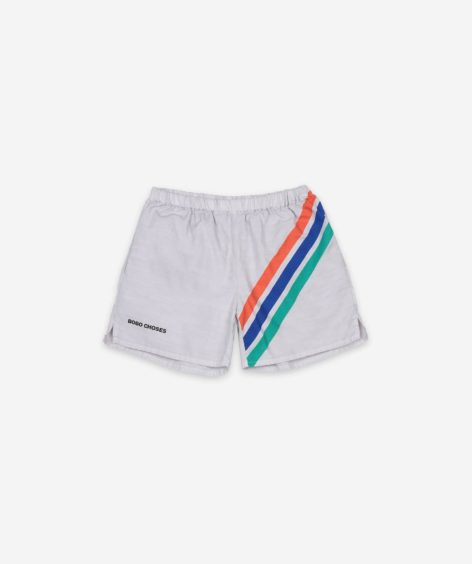 Bobo Choses Crosswise Stripes Woven Shorts  / ボボショーズ