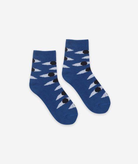 Bobo Choses Eyes Blue Short Socks  / ボボショーズ