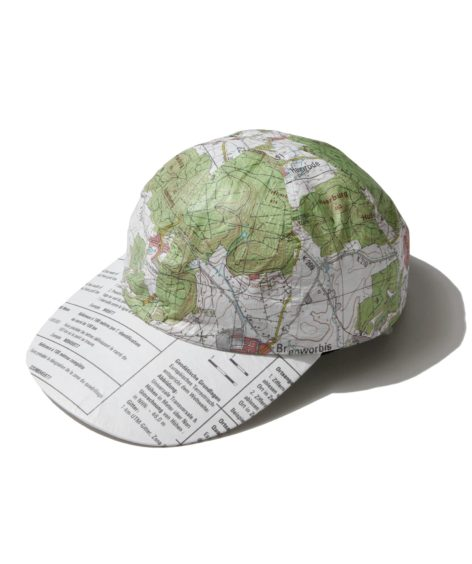 COMESANDGOES tyvek map cap / カムズアンドゴーズ
