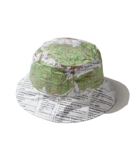 COMESANDGOES tybek map bucket hat / カムズアンドゴーズ