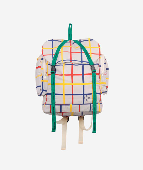 Bobo Choses MULTICOLOR CHECK BACKPACK / ボボショーズ