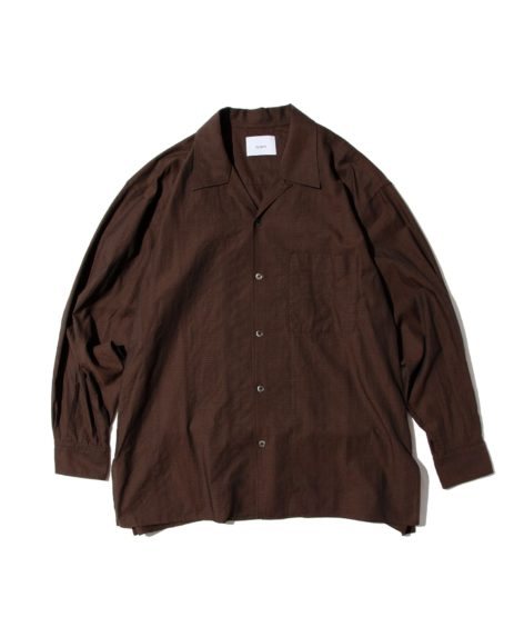 nuterm Wille Open Collar L/S Shirts / ニューターム