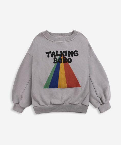 Bobo Choses Taking Bobo Rainbow sweatshirt / ボボショーズ Talking Bobo レインボー スウェット