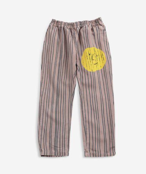 Bobo Choses Stripes woven pants-Pink / ボボショーズ ストライプパンツ ピンク