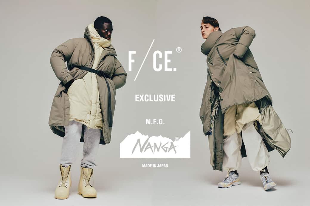 【オンラインストア・直営店舗】F/CE. × NANGA DOWN EXCLUSIVE COLLECTION